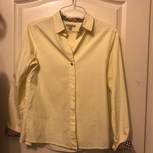Burberry yellow button up